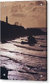 Silhouette Of Lighthouse Acrylic Print by Craig Tuttle