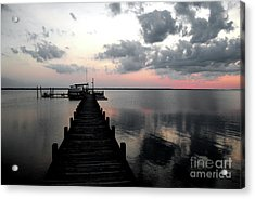 Silhouette On The Sound Acrylic Print by Linda Mesibov