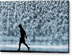 Silhouette Over Water Acrylic Print by Carlos Caetano