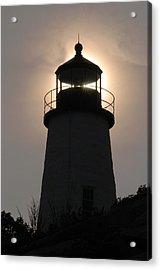 Silhouetted Pemaquid Lighthouse Acrylic Print by Darlyne A. Murawski