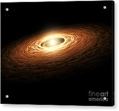 Silicate Crystal Formation In The Disk Acrylic Print by Stocktrek Images