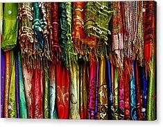 Silk Dresses In Vietnam Acrylic Print by Skip Nall