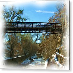 Silver City Big Ditch In Winter Acrylic Print by FeVa  Fotos