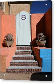 Silver City Doorway Acrylic Print by FeVa  Fotos