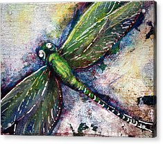 Silver Dragonfly Acrylic Print
