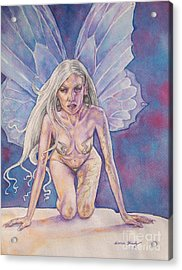 Silver Fay Acrylic Print by Diana Shively