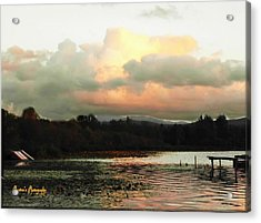 Acrylic Print featuring the photograph Silver Lake Sunset by Sadie Reneau