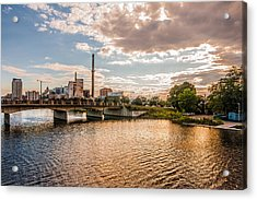 Acrylic Print featuring the photograph Silver Lake by Tom Gort