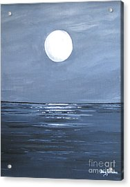 Acrylic Print featuring the painting Silver Moon by Stacey Zimmerman