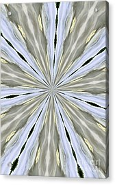 Silver Pewter And Gold Acrylic Print by Marsha Heiken