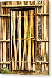 Simple Bamboo Door Acrylic Print by Yali Shi