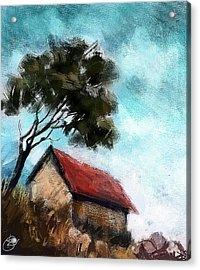 Simple Landscape  Acrylic Print by Kiran Kumar