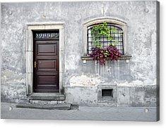 Simple Old House Facade. Acrylic Print by Fernando Barozza