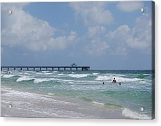 Acrylic Print featuring the photograph Simply Sea by Judy Hall-Folde