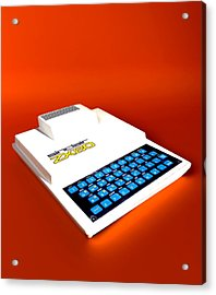Sinclair Zx80 Personal Computer Acrylic Print by Christian Darkin