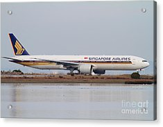 Singapore Airlines Jet Airplane At San Francisco International Airport Sfo . 7d12142 Acrylic Print by Wingsdomain Art and Photography