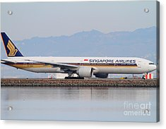 Singapore Airlines Jet Airplane At San Francisco International Airport Sfo . 7d12145 Acrylic Print by Wingsdomain Art and Photography