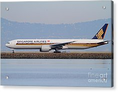 Singapore Airlines Jet Airplane At San Francisco International Airport Sfo . 7d12163 Acrylic Print by Wingsdomain Art and Photography