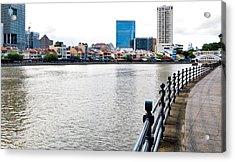 Singapore River Acrylic Print by Chua  ChinLeng