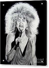 Singer And Actress Tina Turner  Acrylic Print by Jim Fitzpatrick