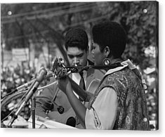 Singer Odetta At The 1963 Civil Rights Acrylic Print by Everett