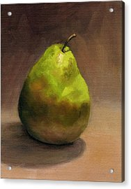 Acrylic Print featuring the painting Single Pear No. 1 by Vikki Bouffard