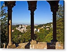 Sintra Balcony Acrylic Print by Carlos Caetano