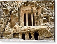 Siq Al-barid (little Petra), Jordan Acrylic Print by Marco Brivio