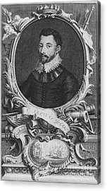 Sir Francis Drake, English Explorer Acrylic Print by Photo Researchers, Inc.
