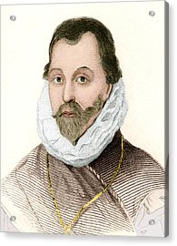 Sir Francis Drake, English Explorer Acrylic Print by Sheila Terry