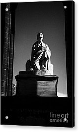Sir Walter Scott Statue Inside The Monument On Princes Street Edinburgh Scotland Uk United Kingdom Acrylic Print by Joe Fox