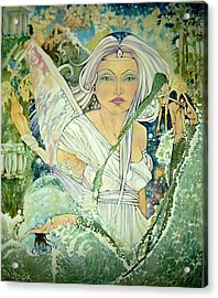 Sister Angel Acrylic Print by Jackie Rock