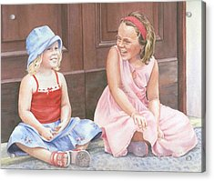 Sisters On Holiday Acrylic Print by Maureen Carter