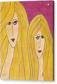 Sisters Acrylic Print by Ray Ratzlaff