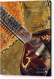 Acrylic Print featuring the painting Sitar 3 by Amanda Dinan