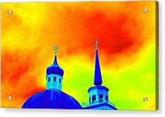 Sitka Russian Orthodox 8 Acrylic Print by Randall Weidner