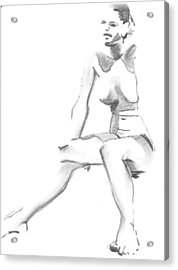 Sitting Acrylic Print