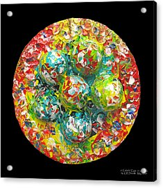 Six  Colorful  Eggs  On  A  Circle Acrylic Print by Carl Deaville