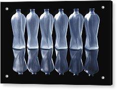 Six Glass Bottles Acrylic Print by David Chapman