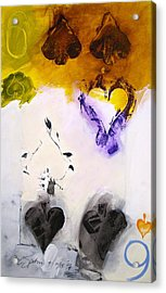 Six Of Spades 15-52 Acrylic Print