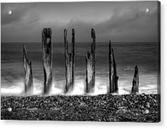 Six Sticks Acrylic Print by Mark Leader