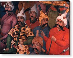 Six Sultans In Iran Acrylic Print by Carl Purcell
