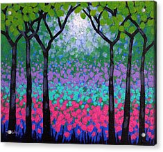 Six Trees Acrylic Print by John  Nolan
