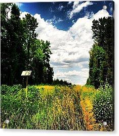 #sixmile #sixmilerun #marker #trails Acrylic Print