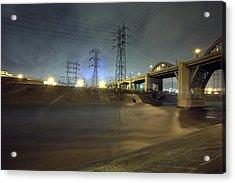 Sixth Street Storm Acrylic Print by Kevin  Break
