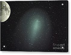 Size Of Comet Holmes In Comparison Acrylic Print by Rolf Geissinger
