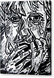 Sketch - Weeping Child Acrylic Print by Kamil Swiatek