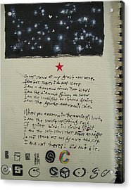 Sketchbook 1  Pg 0 Acrylic Print by Cliff Spohn