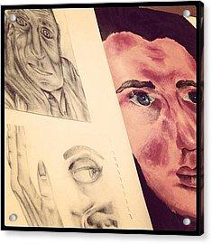 #sketchbook #sketch #drawing #paint Acrylic Print
