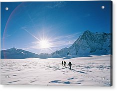 Skiers Approaching Mount Tyree Acrylic Print